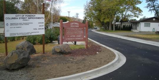 Columbia Street Improvements Phase II – Pomeroy, WA