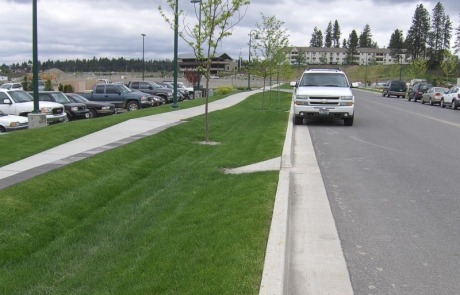 Riverstone Development Grass Lined Swales – Coeur d'Alene, Idaho