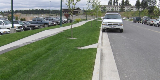 Riverstone Development Grass Lined Swales – Coeur d'Alene, Idaho